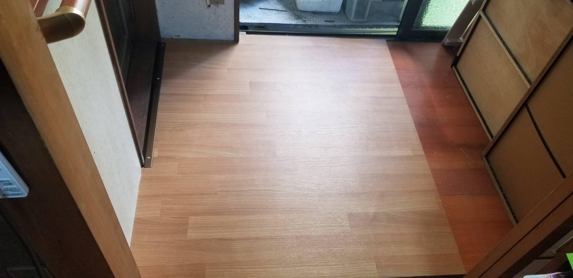 千葉県船橋市にて床リフォーム&段差解消工事
