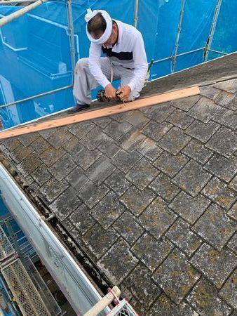 千葉県船橋市にて屋根板金部分の交換工事(外壁塗装・屋根塗装・雨樋交換)