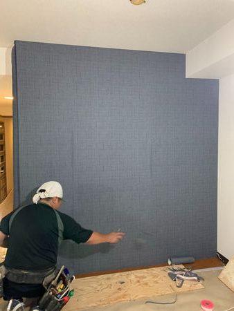 千葉県松戸市にて壁掛けテレビ用の壁造作